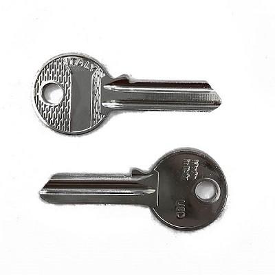 migliori serrature: esempio di serratura non sicura. chiave seghettata